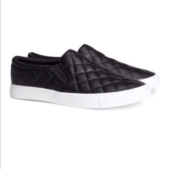 913e0a750 H M Quilted Leather Slip Ons